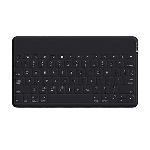 Logitech Keys-To-Go Teclado Inalámbrico Bluetooth para iPhone, iPad, Apple TV, Disposición QWERTY Inglés Reino Unido , Negro