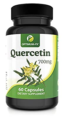 Quercetin 700mg Capsules Not Tablets High Strength Naturally High in Bioflavenoids – 60 Capsules