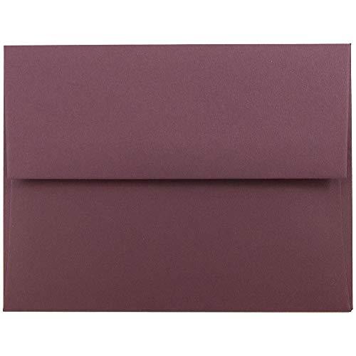 JAM PAPER Buste per Inviti ad Alta Qualità - 139,7 x 206,4 mm - Bordeaux - 50/Pacchetto