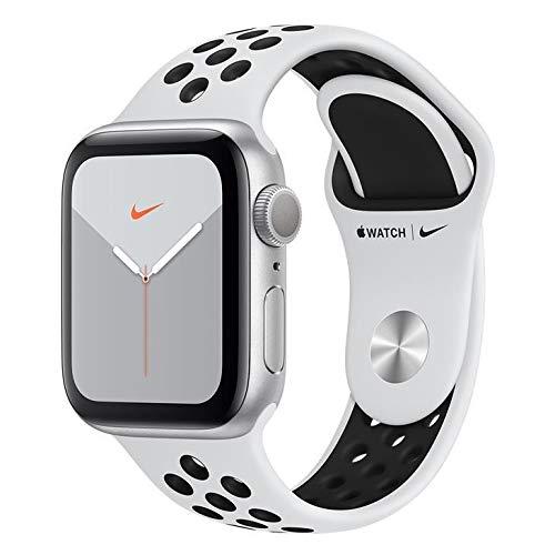 Apple Watch Nike+ Series 5 Gps, 40 mm, Alumínio Prata, Esportiva Nike Preto/Cinza e Fecho Clássico - Mx3r2bz/a