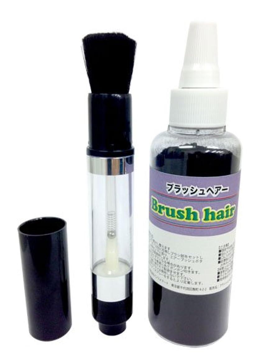 フォーマル引き出す先例ブラッシュヘアーセット(ブラシ&パウダー黒35g)