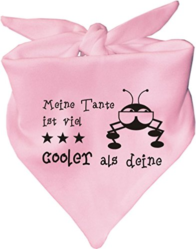 KLEINER FRATZ KLEINER FRATZ Baby Halstuch Meine Tante ist viel cooler als deine/AUNTI/Fb. Rosa