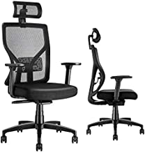 Ergonomic Office Chair Adjustable Desk Chair with Sliding Seat, MOLENTS High Back Mesh Computer Chair with Adjustable Lumbar Support,Headrest,3D Armrest, Swivel Home Office Desk Chair, Thick Wide Seat