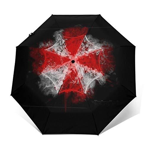 Regenschirm Corp Smoke Resident Evil Winddicht, kompakt, automatisch, faltbar, Reise-Sonnenschirm