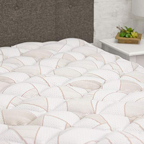 eLuxurySupply Copper Infused Mattress Topper with Fitted...