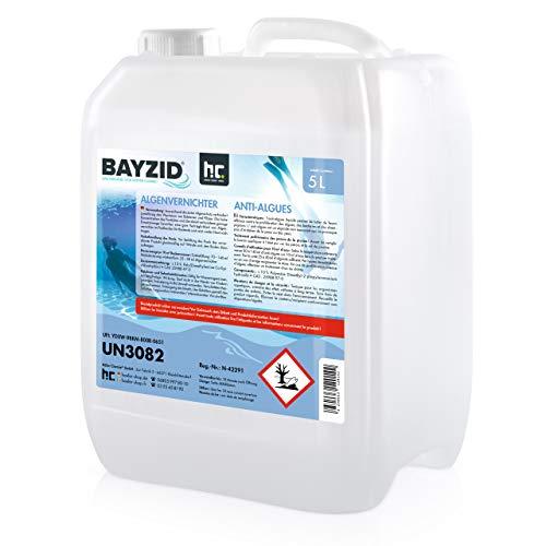 Höfer Chemie 4x5 L Pool Algenvernichter - Präventives Anti Algenmittel für Schwimmbad & Pool - gegen Algen