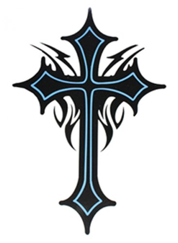 SPESTYLE waterproof non-toxic temporary tattoo stickersExtra large size cross totem temporary tattoos 8.66'x8.07' Inches