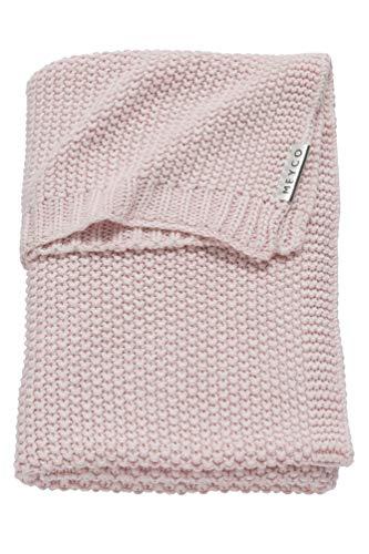 Meyco 2733083 Babydecke Relief Mix grob gestrickt 75x100 cm Rosa