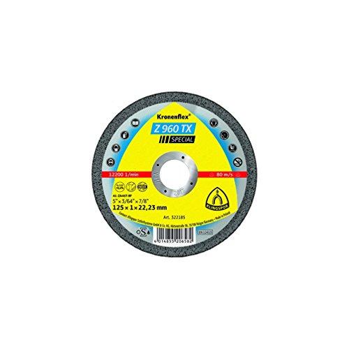KLINGSPOR 322185 Z 960 TX Trennscheiben Zirkon 125 x 1 x 22,23 mm gerade (Inhalt: 25)