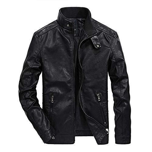 Men's Jacket, Fashion Pocket Button Thermal Leather Outwear Autumn Winter Zipper Slim Coat Tops