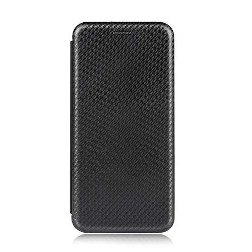 Redmi Note 9T ケース/カバー 手帳型 レザー カード収納 スリム カーボン調 おしゃれ シャオミ リドミーノート9T 手帳型レザーケース/カバー おしゃれ スマートフォン/スマフォ/スマホケース/カバー(ブラック)