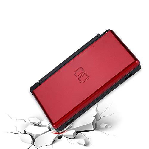 Reemplazo de la Carcasa Completa Consola del Juego Cubierta de la Carcasa Cubierta Trasera Piezas de reparación para el Sistema NDSL NDSL de Nintendo DS Lite, diseño de absorción (Rojo)