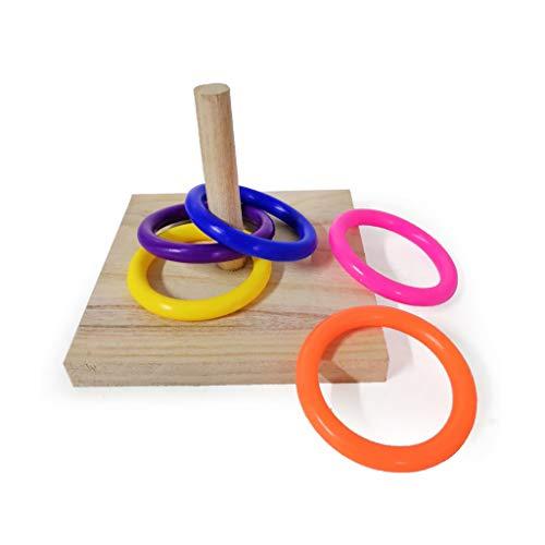 Ncbvixsw Vogelpädagogisches Spielzeug aus Holz für Papageien, Intelligenz-Training, praktisches Zubehör für Papageien, Vögel, Vögel, Spielzeug für Papageien