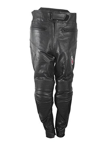 Zerimar Leder Hosen Herren   Lederhose Motorrad   Motorradhose mit Schutz   Motorradhose Leder Herren