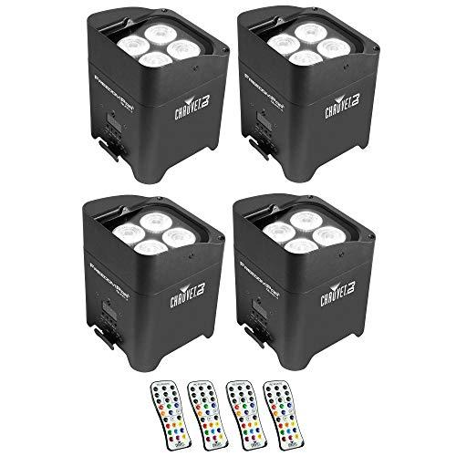 Chauvet DJ Freedom Par Quad 4 Wireless Battery LED Wash Light Effects (4 Pack)