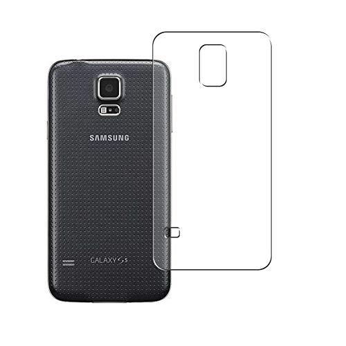 VacFun 2 Piezas Protector de pantalla Posterior, compatible con Samsung Galaxy S5 SC-04F SCL23 i9600 g9006 g9006v, Película de Trasera de TPU