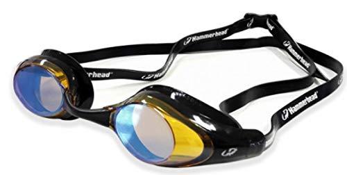 Hammerhead Racer Pro Mirror , Óculos de Natação, Unissex Adulto, Espelhado Ambar / Preto, Único