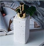 Zjcpow Botellas de cerámica Creativa de látex Botellas del jabón líquido de la Bomba dispensadores de baño Set decoración del hogar Accesorios de baño Verde xuwuhz (Color : White)