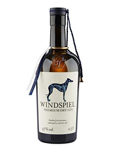 Windspiel Premium Dry Gin 47 {2ee6401258a663154f9a875c19d117af5904fc88b0a7acbce8ecc957de67083c} vol. 1 x 0,5 Liter - International ausgezeichneter London Dry Gin aus der deutschen Vulkaneifel