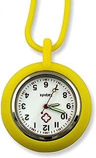 Barir Nurse Pocket Watch Nurse Watch Silicone Tunic Medical Nurse Pocket Watch Movement Nurse Pocket Watch Digital (Color : Yellow)