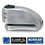 Artago 32 Candado antirrobo Moto Disco Alarma + Warning 120 db Alta Gama, ø15 Cierre...