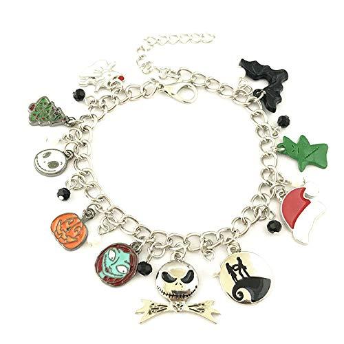 Universe of Fandoms Anime cartoon Horror Nightmare Before Christmas Charm Bracelet Gifts for Women girl
