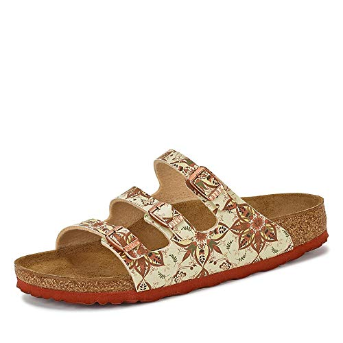 BIRKENSTOCK Florida Fresh Größe 41 EU Boho FlowerEarth Red