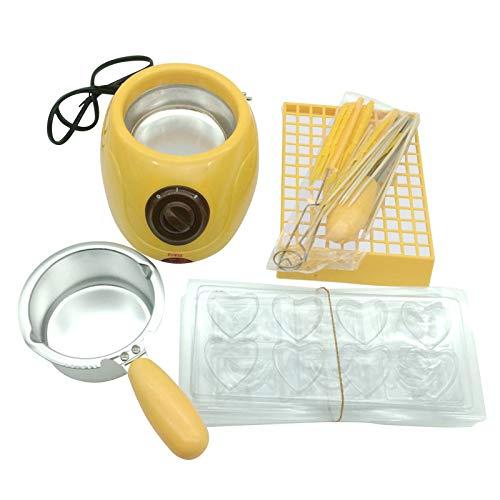 ZS ZHISHANG 25w Chocolate Melting Warming Fondue Set Melting Machine DIY Tool for Melting Chocolate Candy Cheese