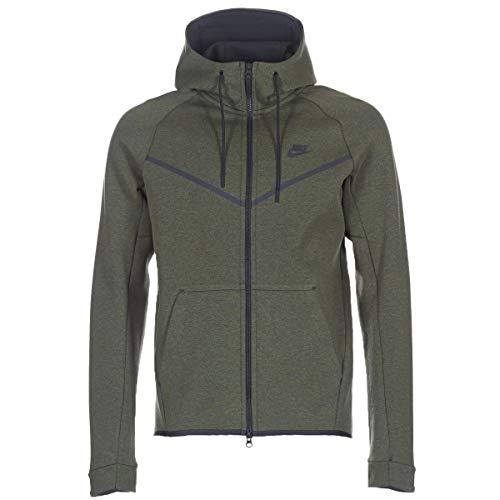 Nike Herren Sportswear Tech Fleece Windrunner Dunkelgrün Baumwolle/Polyester Hoodie XXL