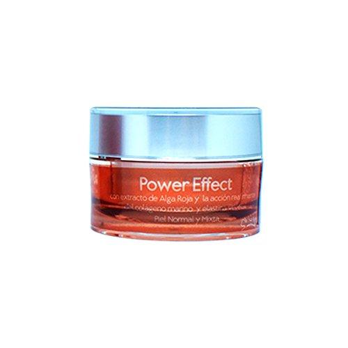 Power Effect Cosmética Natural, Crema de Noche con Extracto de Alga Roja.