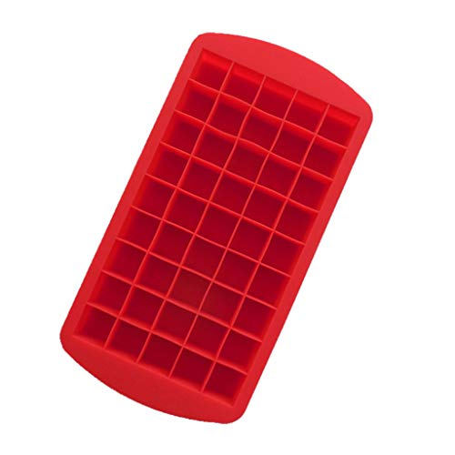 iHHAPY Ice Cube Trays, Silicone Ice Cube Molds Easy-Release Silicone 49 Cubes Flexible Ice Tray for Whiskey Storage, Cocktail, Beverages, Stackable Durable and Dishwasher Safe