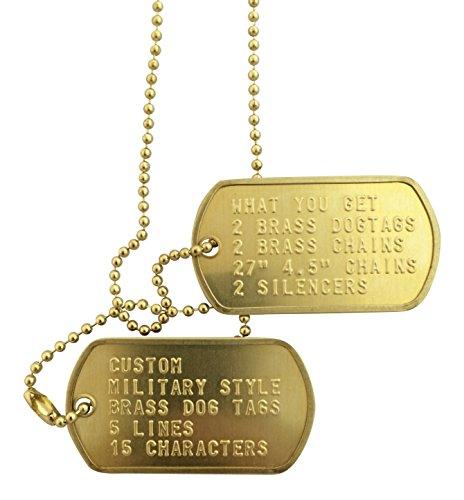 Custom Brass Military Style Dog Tag
