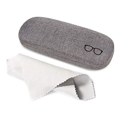 KONO Brillenetui Hartschalen Schutzhülle für Brillen Brillen-Aufbewahrungskoffer (Grau)
