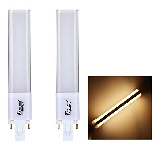 FExYinz MEHRWEG 2er-Pack G23 LED-Lampe Doppelseitige Beleuchtung 2 Jahre Garantie 6 Watt Warmweiß 3000K 600 Lumen Abstrahlwinkel 360 Grad Ra 80 PL Lampe Kompakte LED-Lampe G23 LED Leuchtstoffröhre