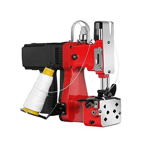 JIAWNASHUNポータブル袋縫ミシン ミシンシール機 ハンドミシン 封切り機  ポータブル袋口縫い 織りバッグ・麻袋・クラフトバッグ・紙袋に適用 事務用 ビジネス用(赤)110V