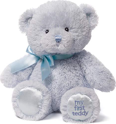Baby GUND My First Teddy Bear Stuffed Animal Plush, Blue, 10'