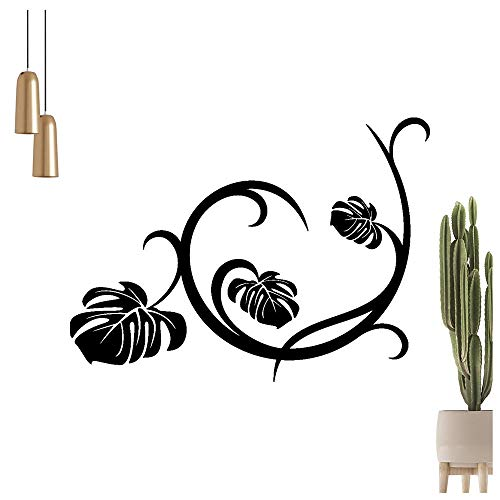 Adhesivo decorativo para pared, diseño de hojas, disponible en 6 tamaños