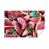 Poster - Salat - Lebensmittel - Wassermelone - 90x60 cm