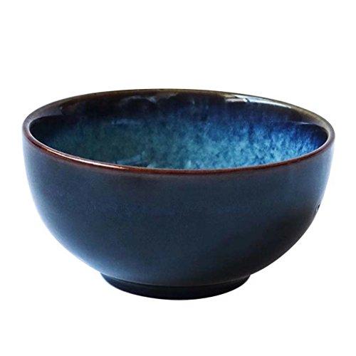 Zhao SHOP-5in Ronde Céramique Bol Petit Déjeuner Dessert Couverts pour Restaurant Maison Fruit Riz (Bleu)