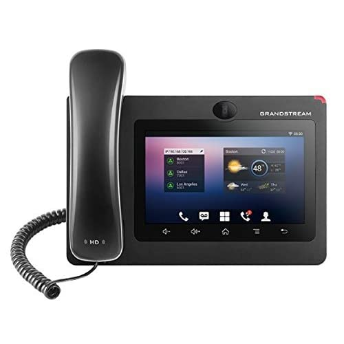 Grandstream Networks GXV3275 - Teléfono IP (Negro, Terminal con conexión por Cable, 3.5