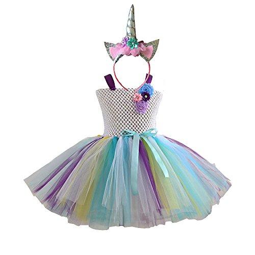 DIXIUZA Ragazza Tutu Gonna Abito Bambine Costume da Balletto per Dance Carnevale