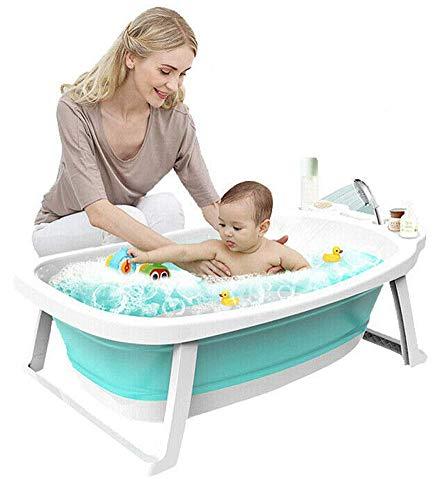 Smartpanda Babywannensitz - Lagoon Faltbare Babybadewanne mit Kissen - Badewannen für Reisebabys von 0 bis 36 Monaten - Reduzierkissen inklusive, Green