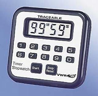 VWR 62344-585 Mini-Alarm Timer/Stopwatch, 6.3 cm Height, 5.6 cm Width, 1.3 cm Length (Pack of 1)