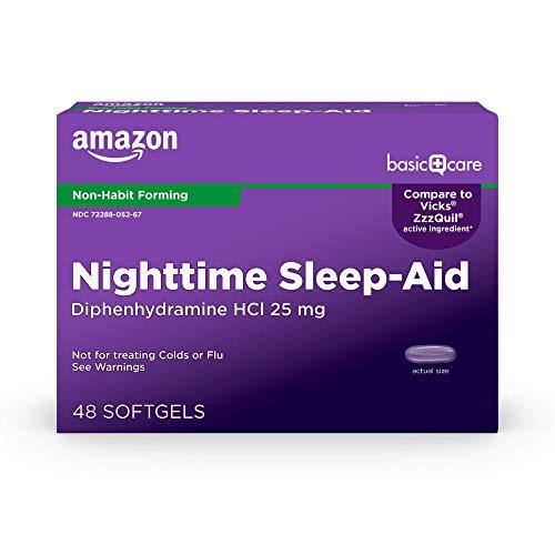 Amazon Basic Care Sleeptime Nighttime Sleep-Aid...