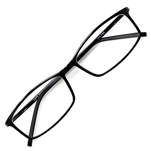 アイウェアエア 老眼鏡 おしゃれ メンズ レディース ブルーライトカット +0.5〜+3.5 4色 スクエア ピアノブラック +1.00