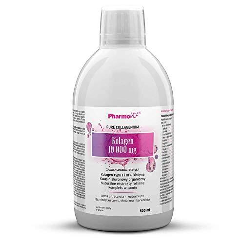 Collagen Type I and III 10000mg hyaluronic Acid biotin 500ml PharmoVit