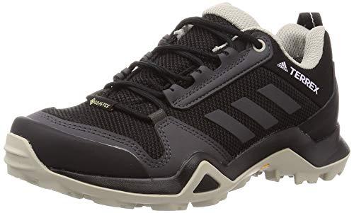 adidas Terrex Ax3 GTX W, Zapatillas para Carreras de montaña Mujer, Core Black/DGH Solid Grey/Purple Tint, 38 2/3 EU