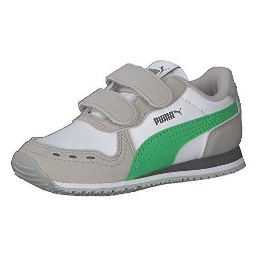 Puma Unisex Baby Cabana Racer SL V INF Sneaker, White-Island Green, 24 EU