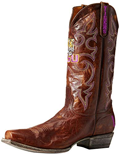 NCAA LSU Tigers Herren Boardroom Style Boots, Herren, LSU-M090, Messing, 14 D (M) US