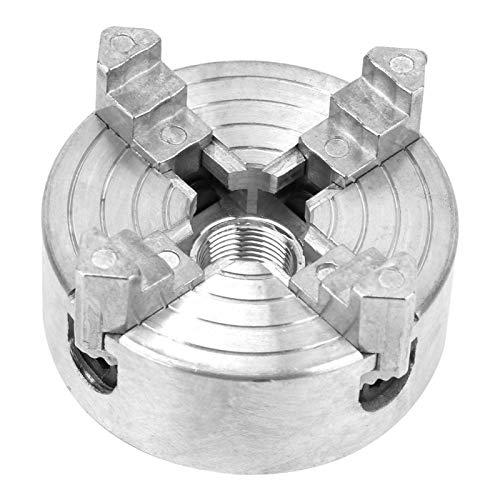 Mandril de torno de 4 mordazas, Mandril de torno de aleación de zinc Abrazadera de mandril de rosca M12 de 4 mordazas, Mandril de torno de madera de 4 mordazas Z001A